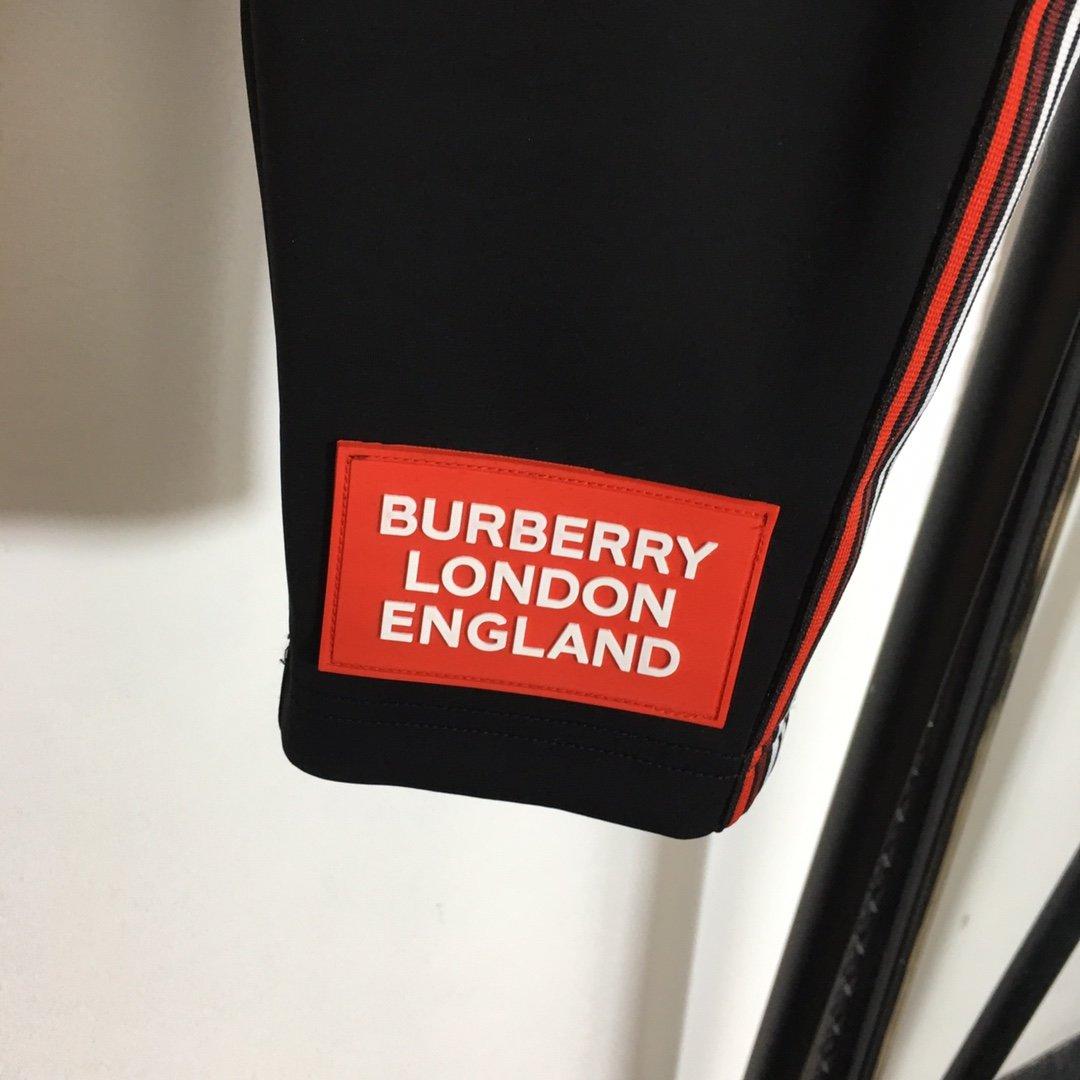 Burberry新款高版本条纹织带拼
