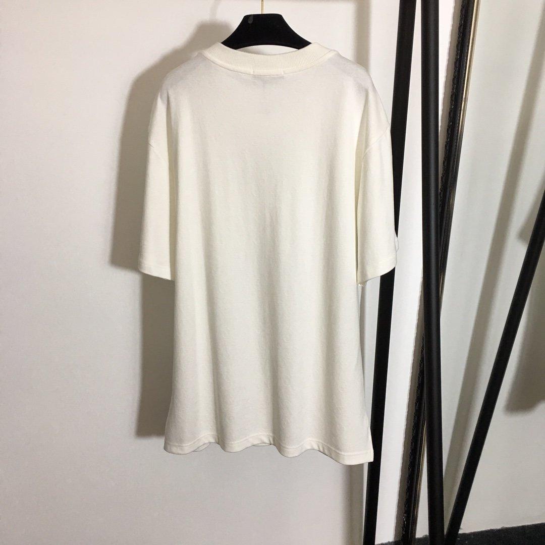 LV新款单口袋纯棉百搭短袖T恤下摆微