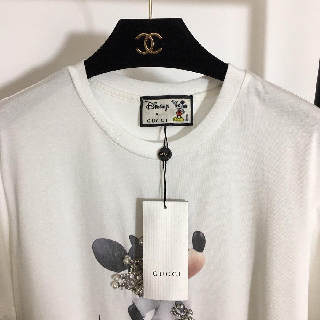 Gucci新款重工钉珠镶钻皇冠米老鼠