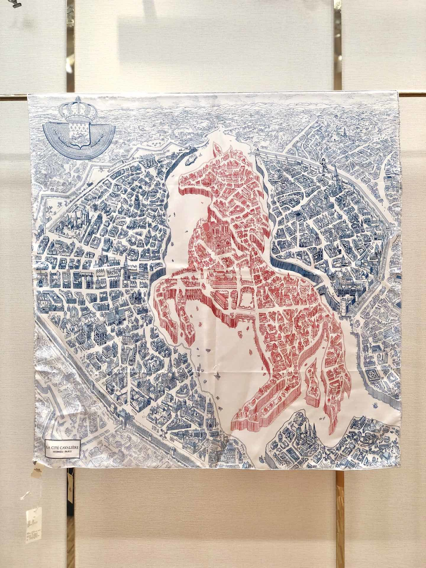 Hermes90骏马之城真丝方巾(图9)