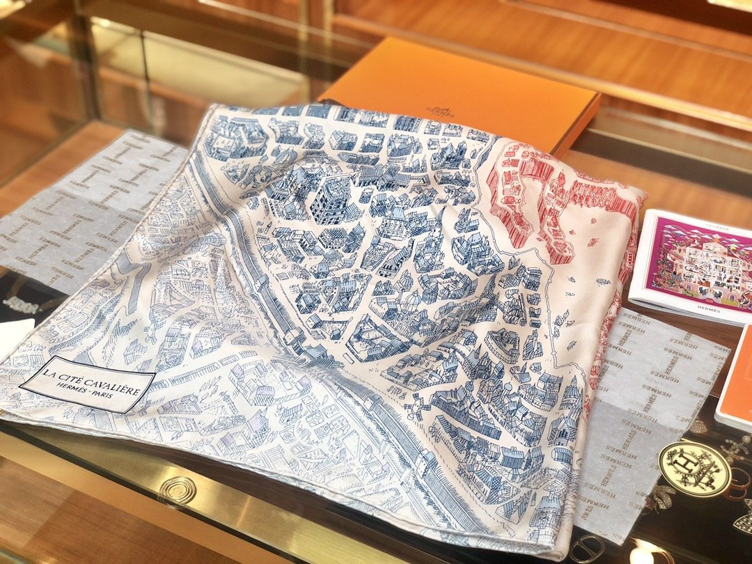 Hermes90骏马之城真丝方巾(图4)