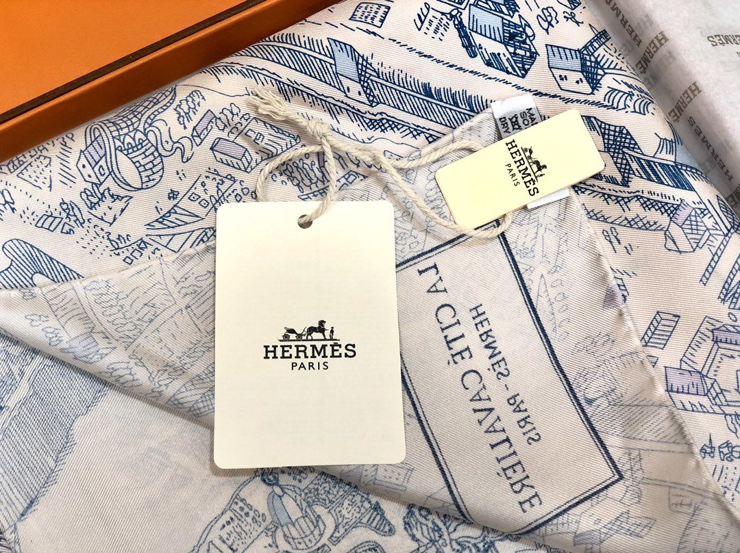 Hermes90骏马之城真丝方巾(图5)