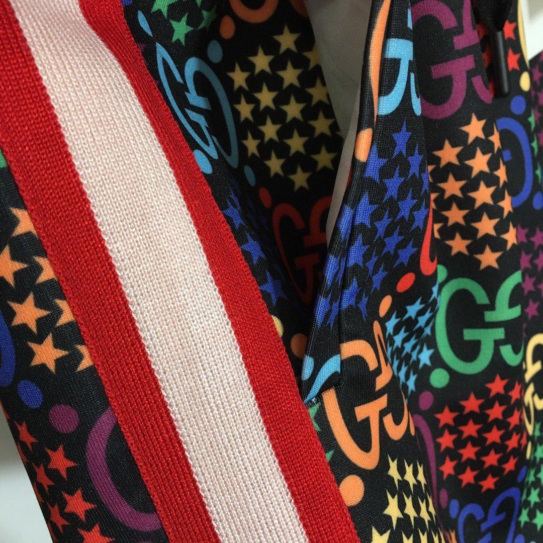 Gucci新款粉红织带拼接彩色GG字