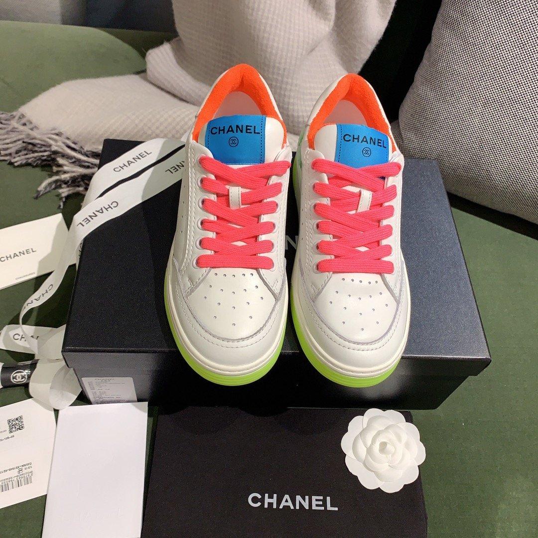 chanel小香2020新款小红书力推款彩色小白鞋(图4)