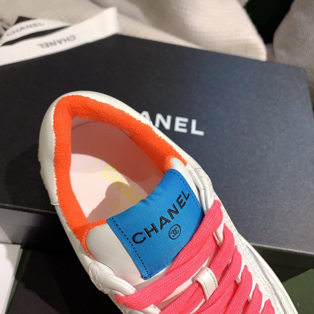 chanel小香2020新款小红书力推款彩色小白鞋(图9)