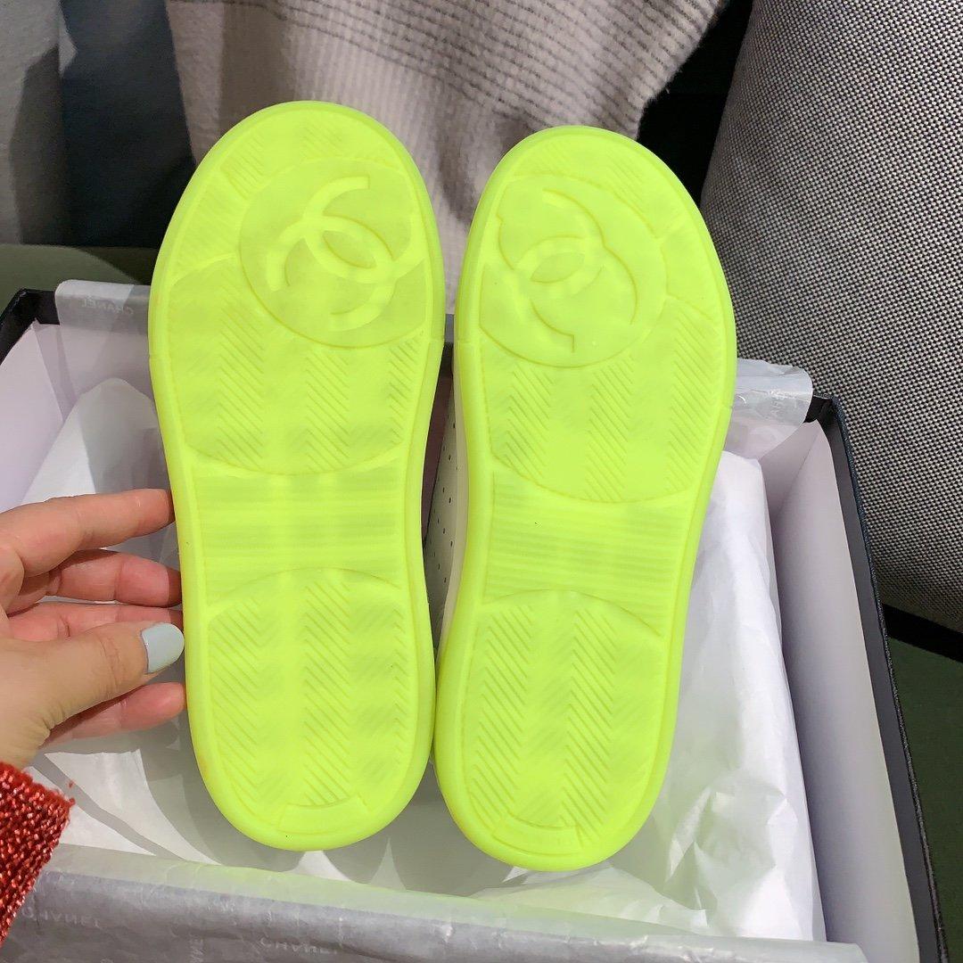 chanel小香2020新款小红书力推款彩色小白鞋(图11)