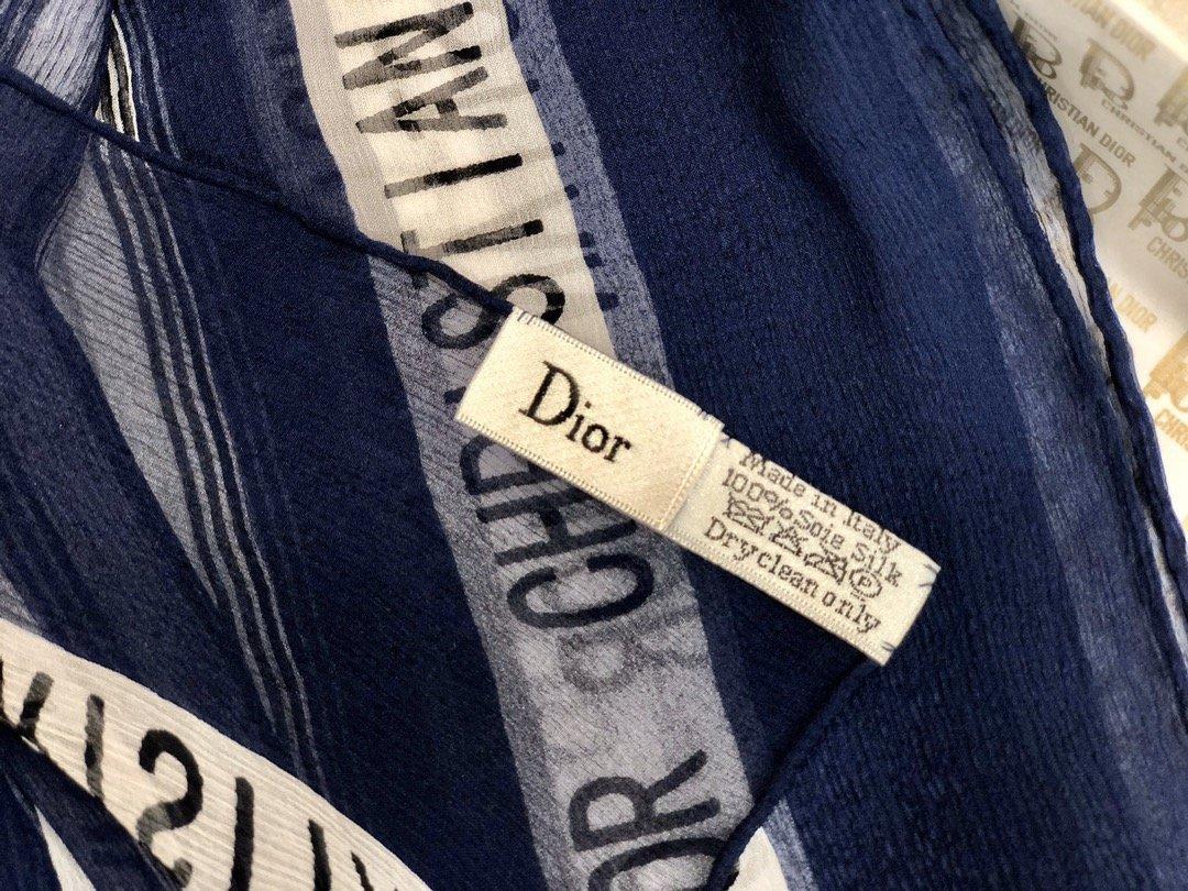 Dior新款丝巾重磅推荐桑蚕真丝Dior第一名主打丝巾(图12)