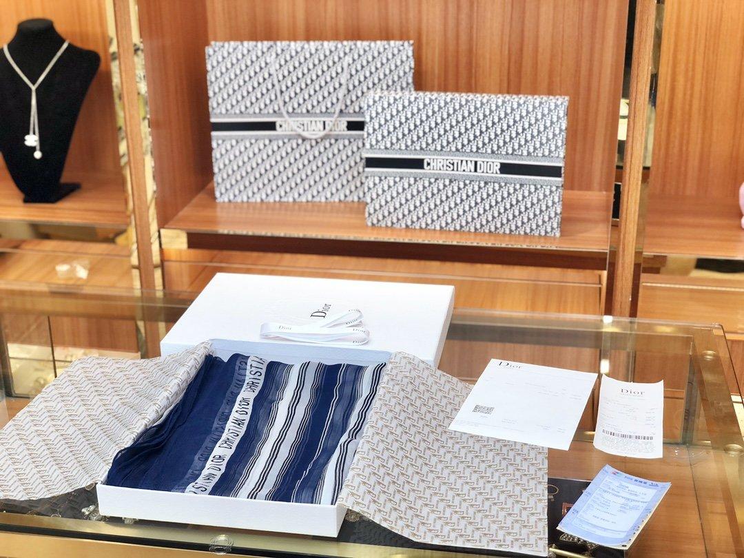 Dior新款丝巾重磅推荐桑蚕真丝Dior第一名主打丝巾(图9)