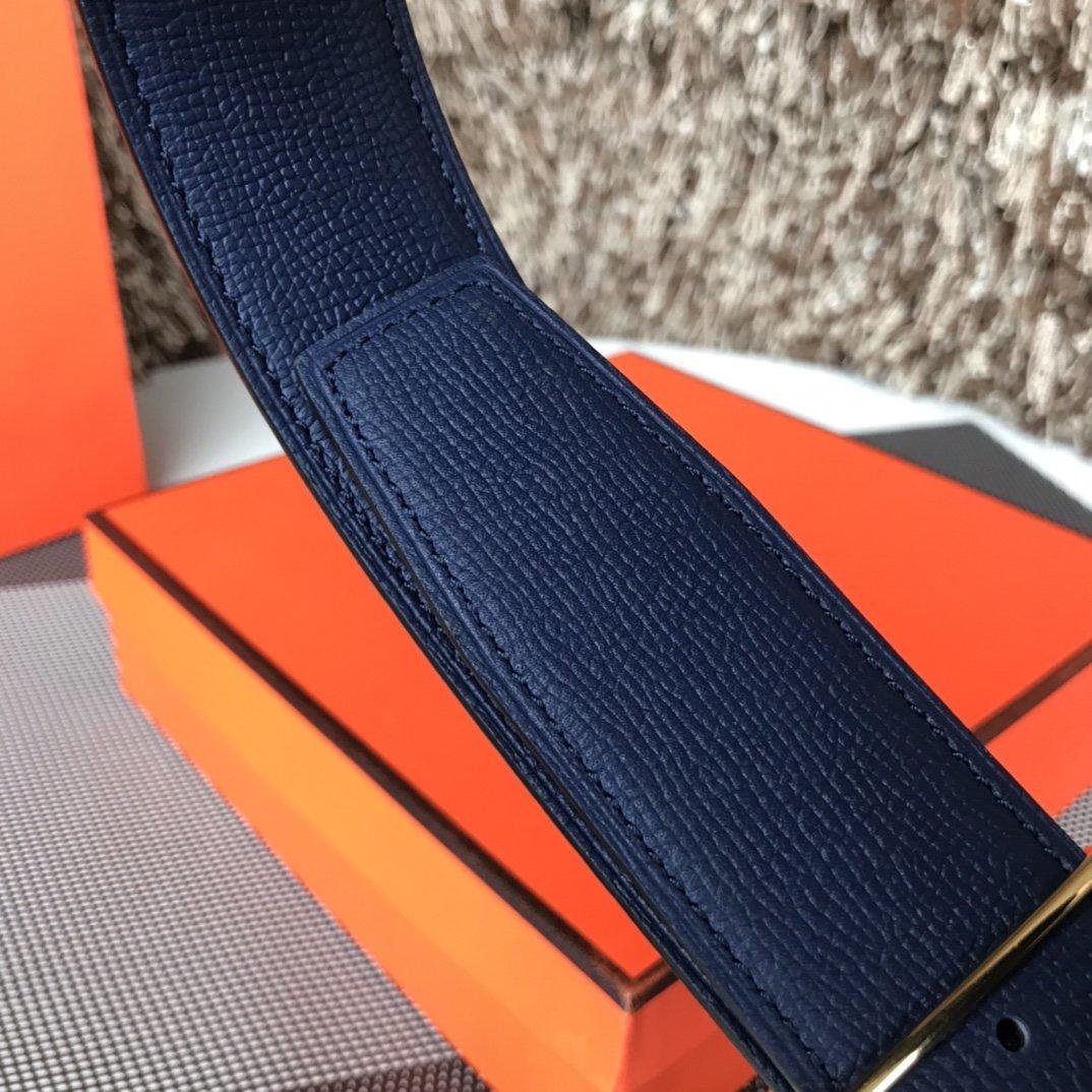 爱马仕Hermes双面意大利顶级进口粒面皮底腰带(图9)