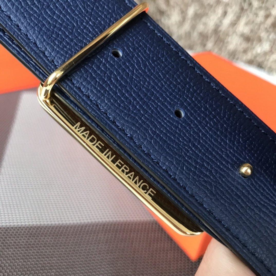 爱马仕Hermes双面意大利顶级进口粒面皮底腰带(图8)