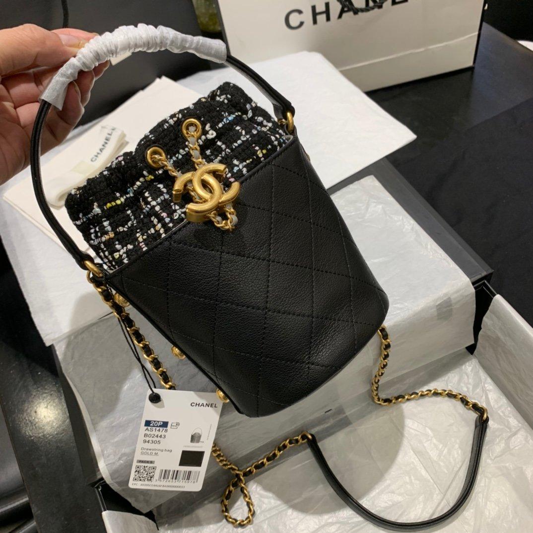 chanel香奈儿2020年最新款抽绳小桶包(图3)