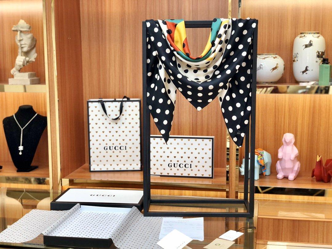 海外原单Gucci丝巾 100%真丝 (图8)