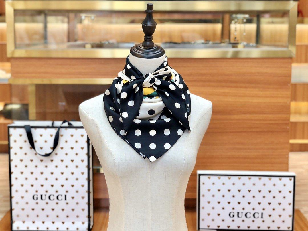 海外原单Gucci丝巾 100%真丝 (图1)