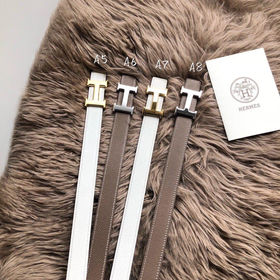 爱马仕Hermes意大利顶级镶钻纯钢扣双面 专柜同款(图1)