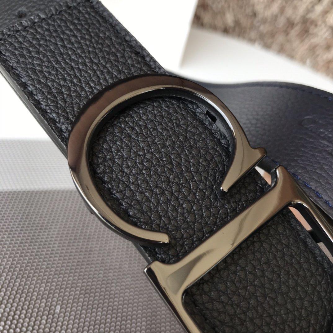Dior双面意大利顶级进口头层荔枝纹牛皮纯铜扣(图5)