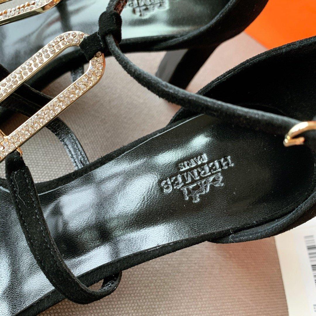 Hermes 钻扣高跟凉鞋(图10)