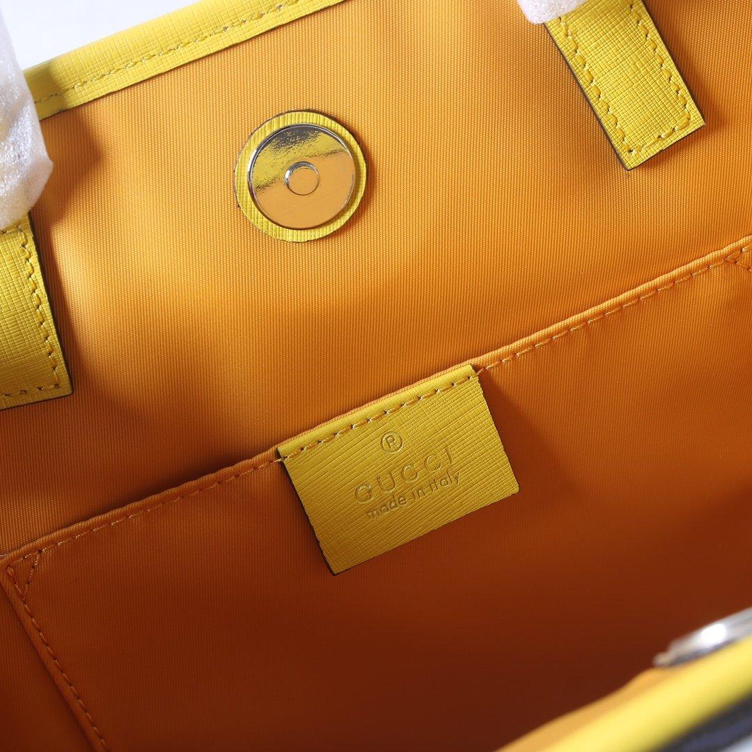 GUCCI新款专柜品质 顶级原单货 实物实拍605614柠檬黄(图8)