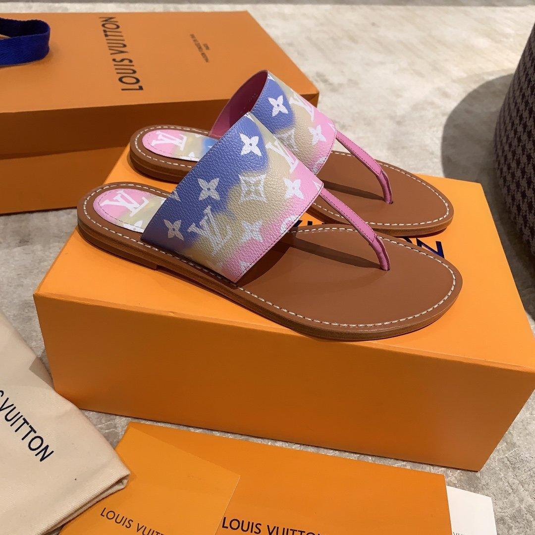 Lv2020早春新款度假拖鞋专柜同款(图8)