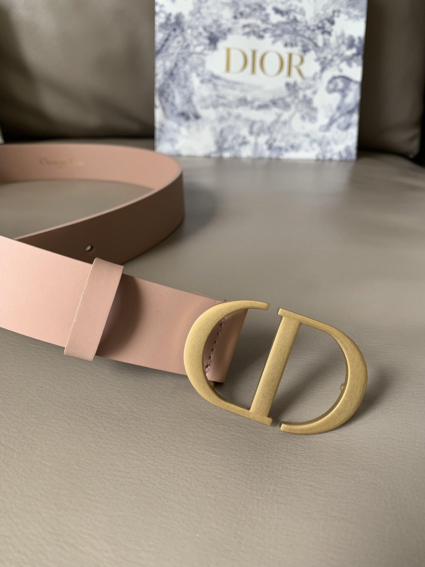 Dior新款双面意大利级顶进口头层平纹小牛皮女士腰带(图4)