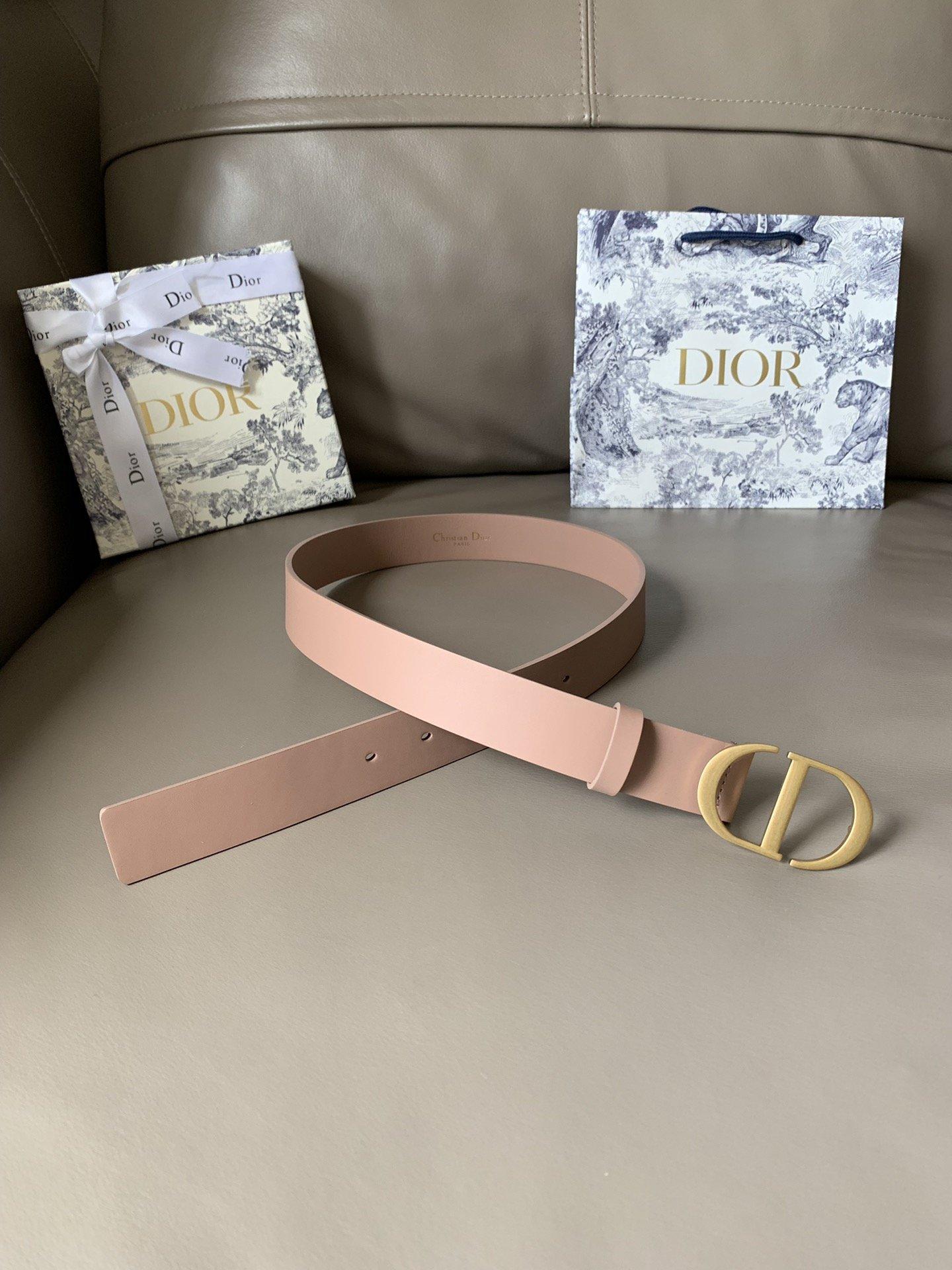Dior新款双面意大利级顶进口头层平纹小牛皮女士腰带(图3)