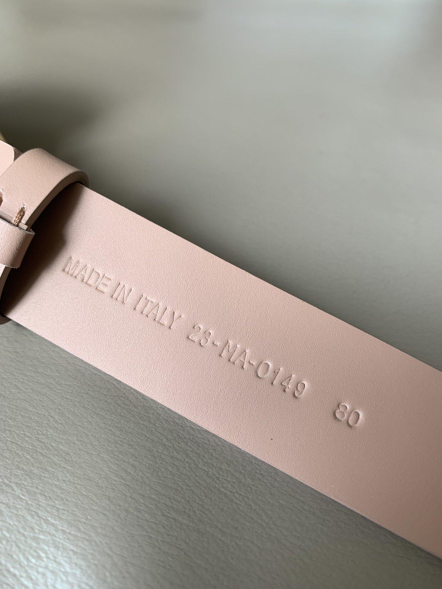 Dior新款双面意大利级顶进口头层平纹小牛皮女士腰带(图7)
