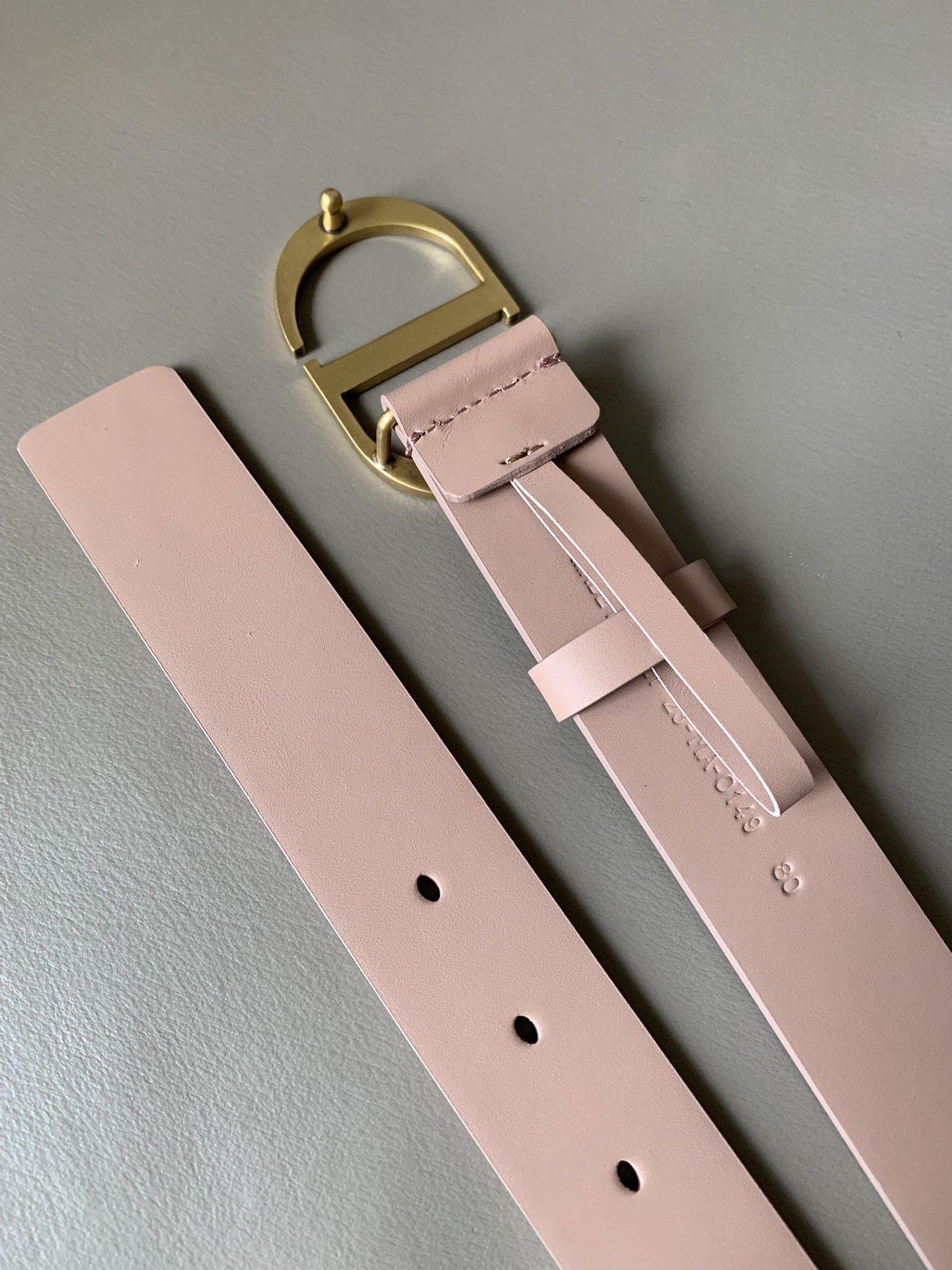 Dior新款双面意大利级顶进口头层平纹小牛皮女士腰带(图6)