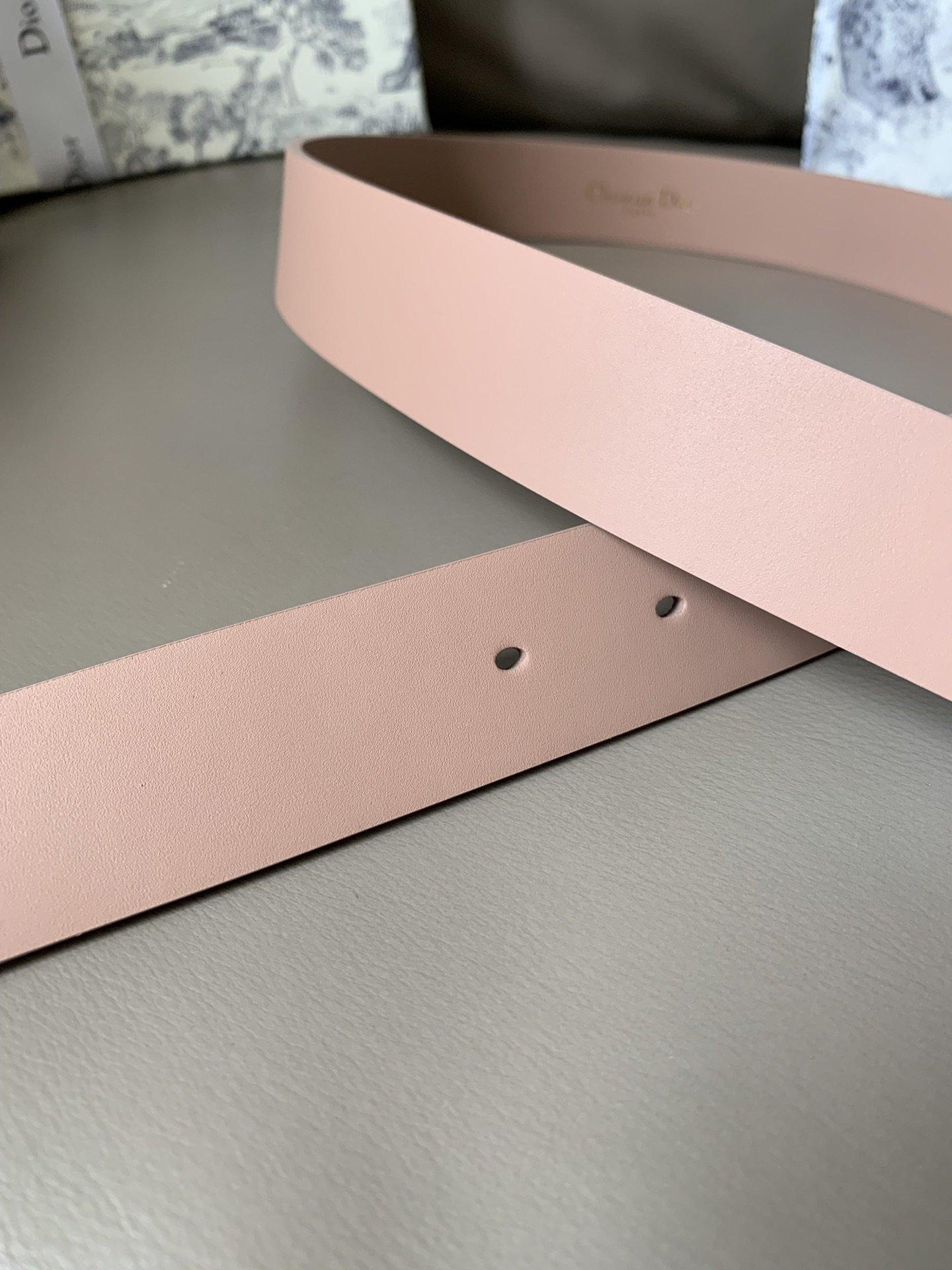 Dior新款双面意大利级顶进口头层平纹小牛皮女士腰带(图5)