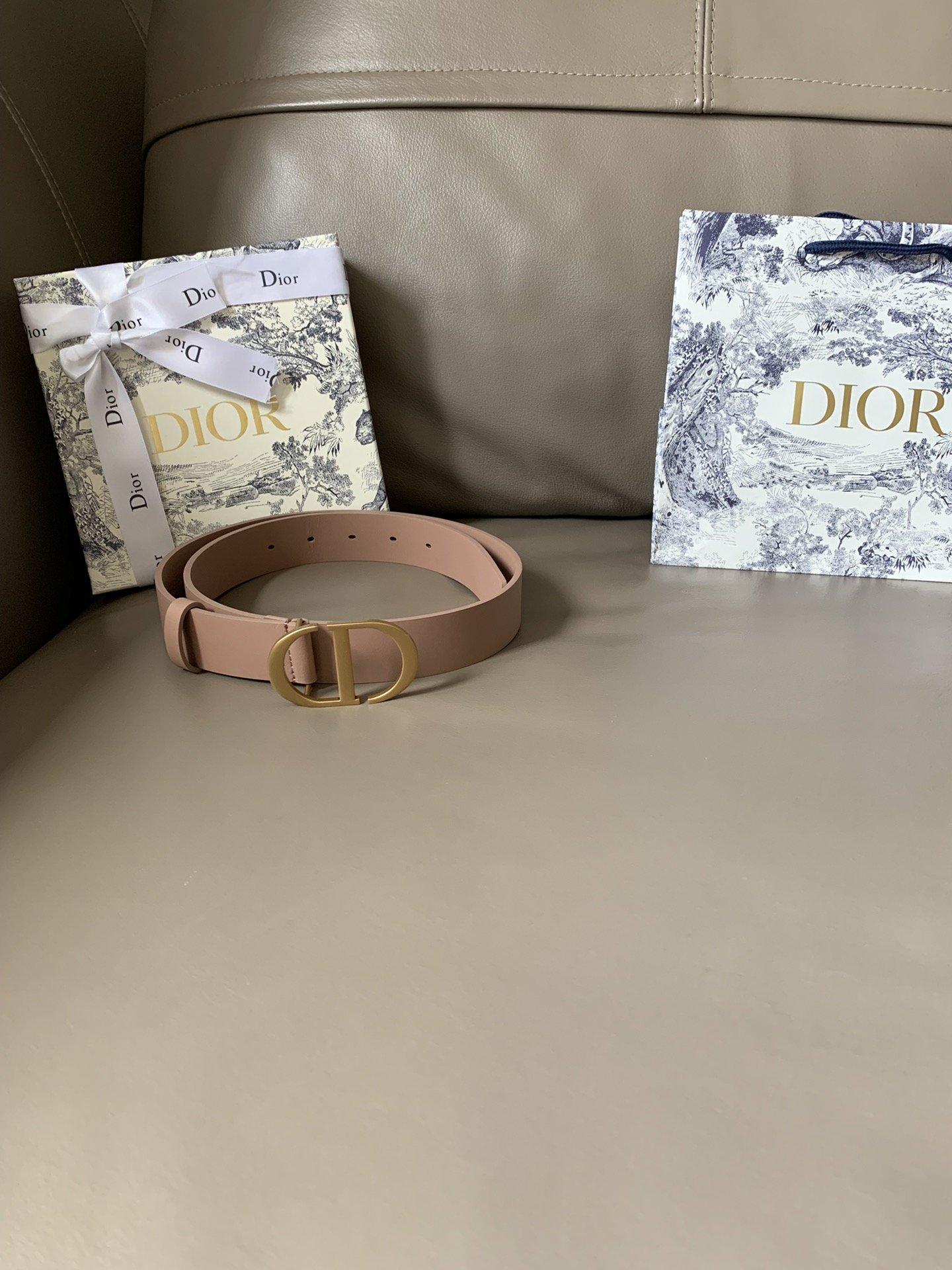 Dior新款双面意大利级顶进口头层平纹小牛皮女士腰带(图8)