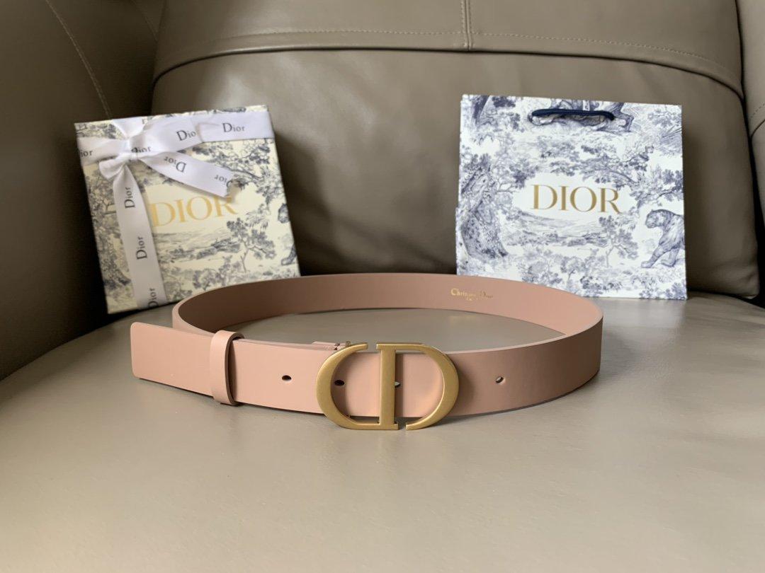 Dior新款双面意大利级顶进口头层平纹小牛皮女士腰带(图1)