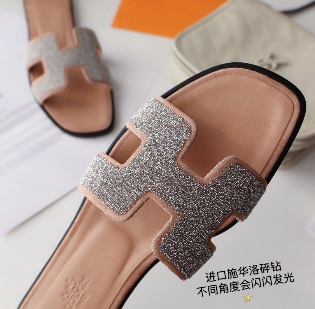 Hermes顶级版本 爱马仕经典Oran拖鞋(图8)
