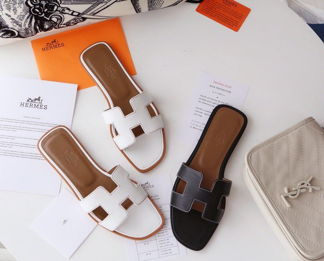 Hermes顶级版本 爱马仕经典Oran拖鞋(图4)