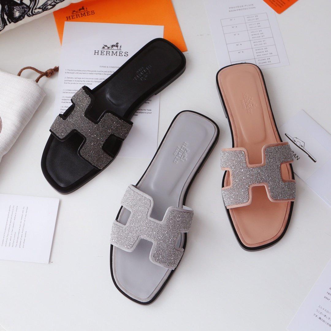 Hermes顶级版本 爱马仕经典Oran拖鞋(图17)