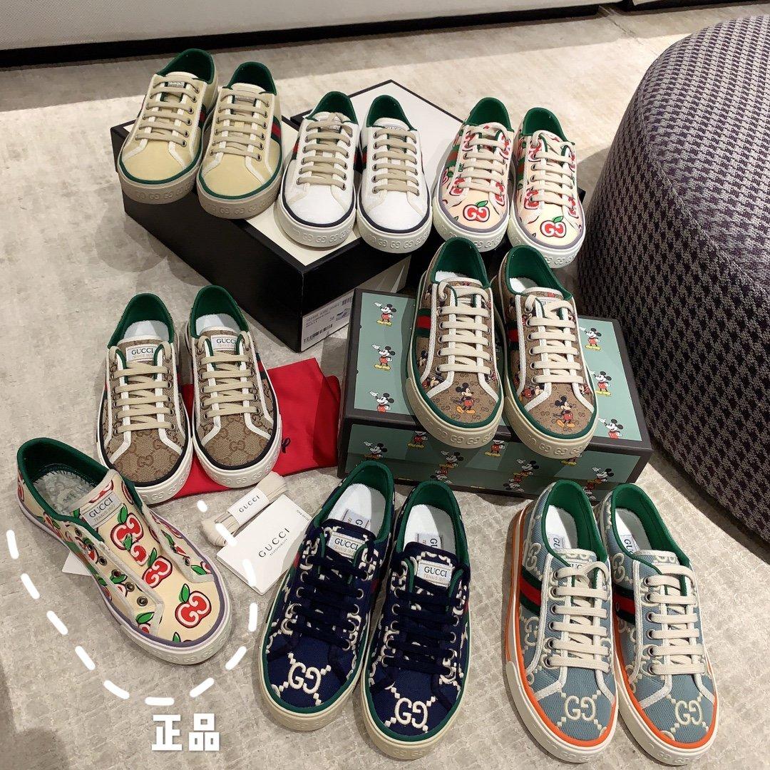 Gucci 代购品质2020早春爆款帆布女鞋(图6)
