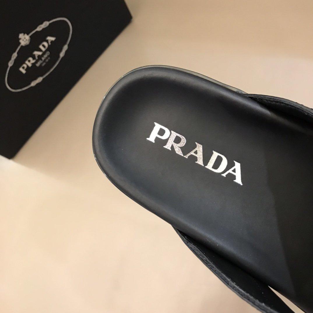 Prada家高端精品原单级男士夏季凉