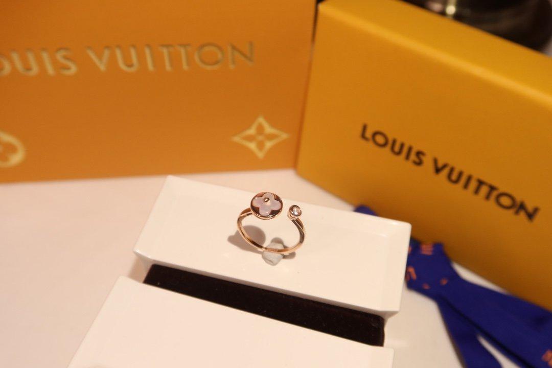 戒指s925纯银LV新款LV限定天然