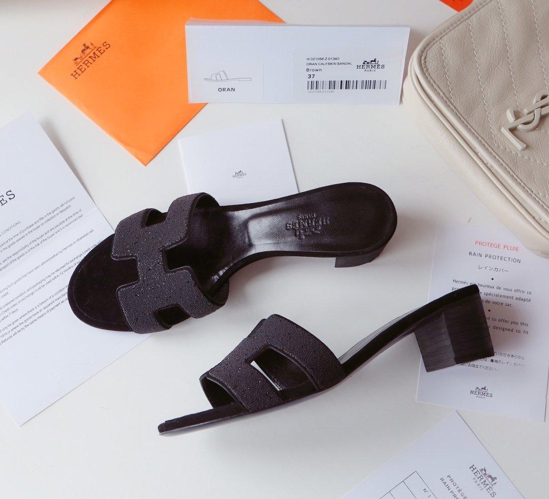 Hermes顶级版本 爱马仕经典Oran拖鞋(图15)