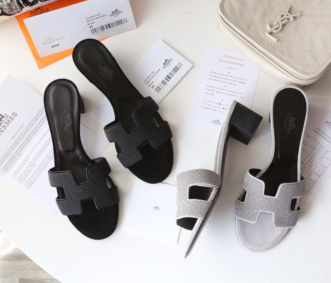 Hermes顶级版本 爱马仕经典Oran拖鞋(图5)