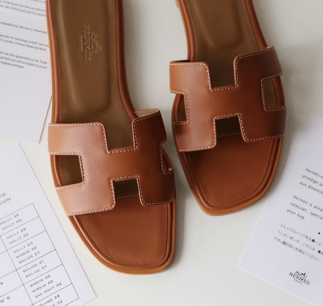 Hermes顶级版本 爱马仕经典Oran拖鞋(图11)