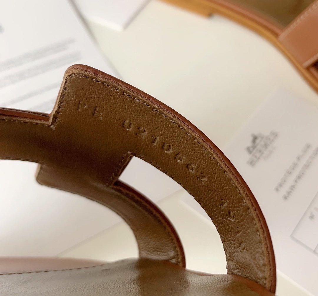 Hermes顶级版本 爱马仕经典Oran拖鞋(图13)