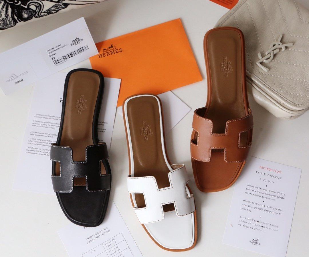 Hermes顶级版本 爱马仕经典Oran拖鞋(图6)