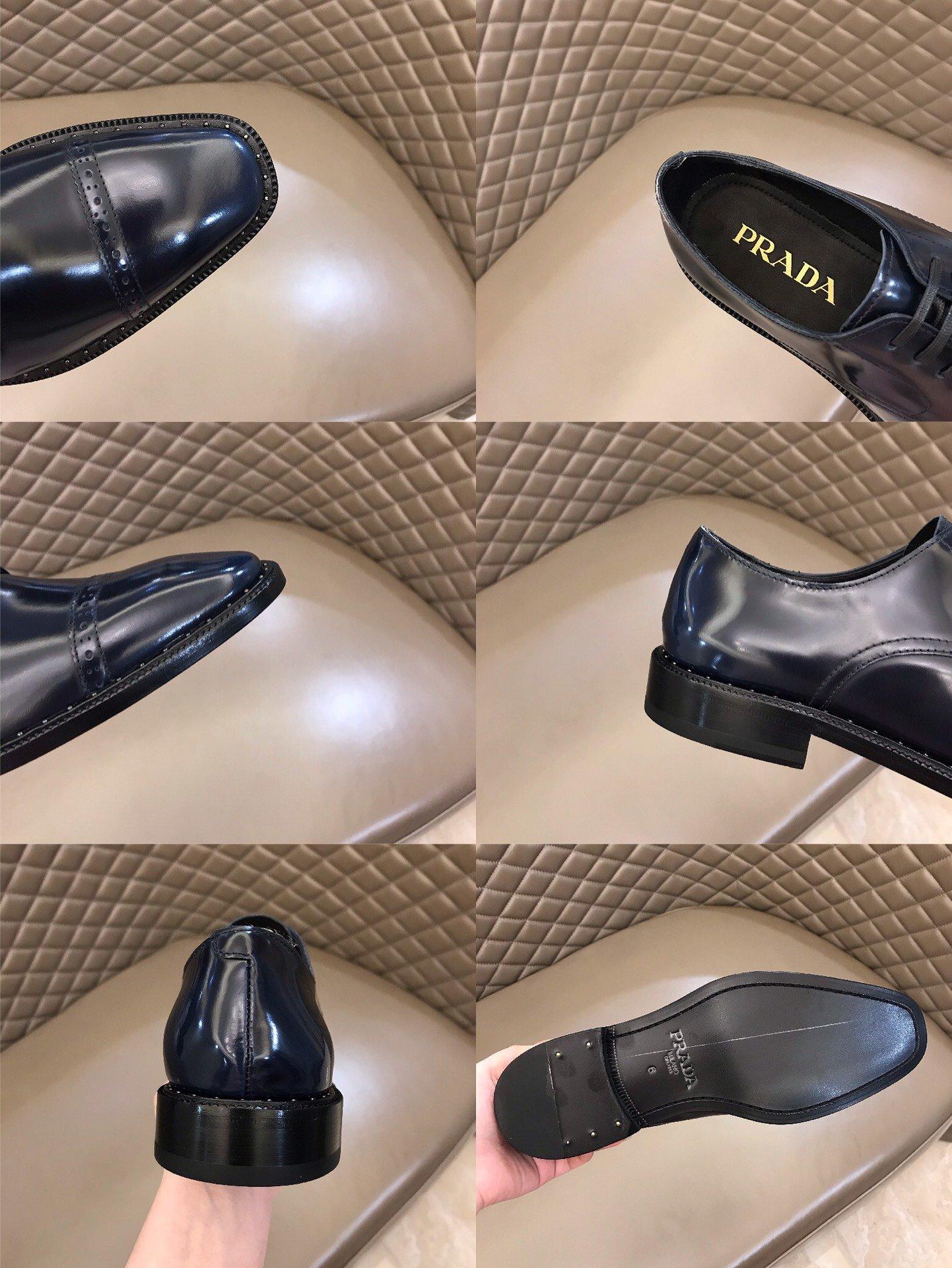Prada原单男士正装皮鞋真皮大底!