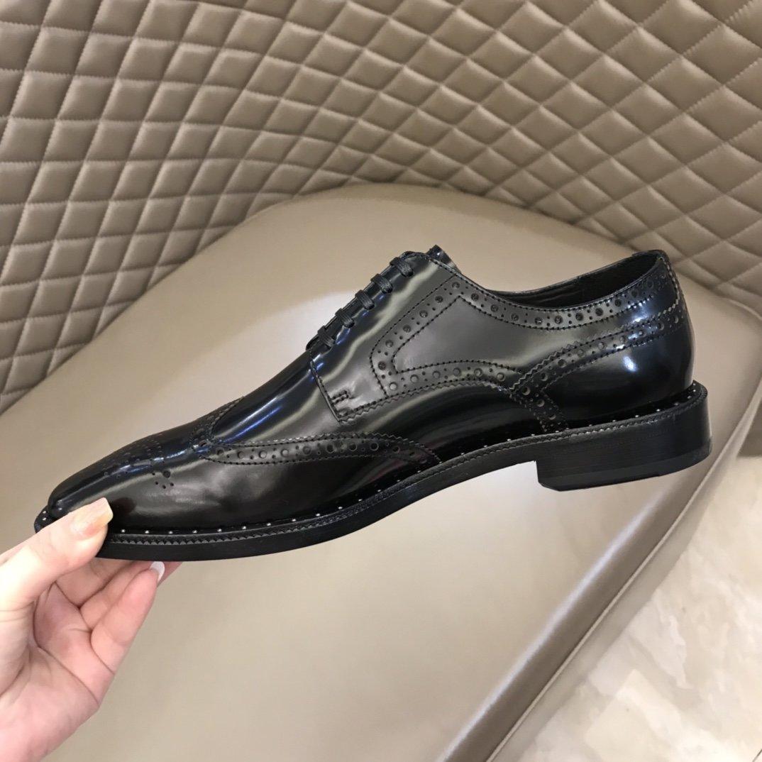 Prada家原单男士正装皮鞋真皮大底