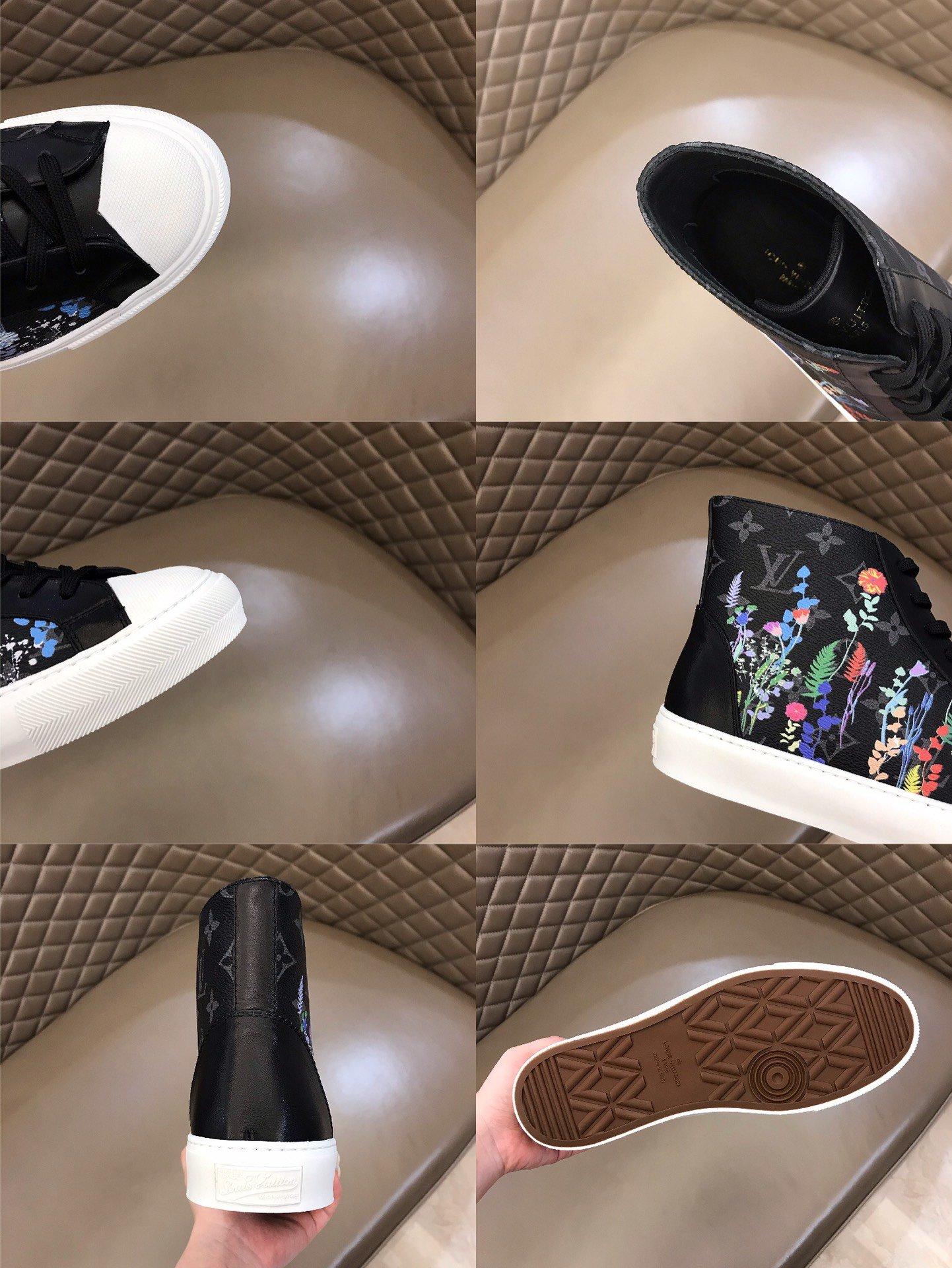 Lv高帮男士tattoo印花运动鞋!