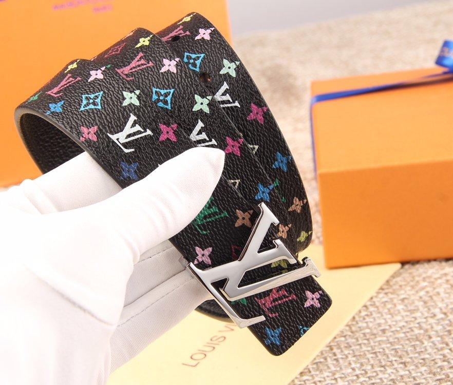 LV原厂水货女士33彩腰带 黑彩白彩皮带(图2)