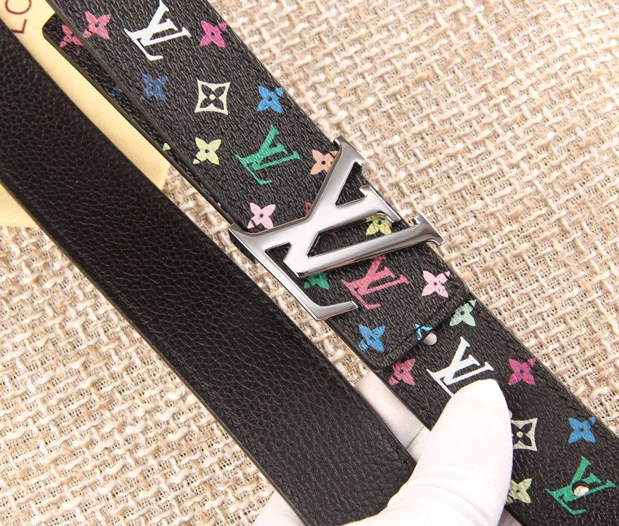 LV原厂水货女士33彩腰带 黑彩白彩皮带(图4)