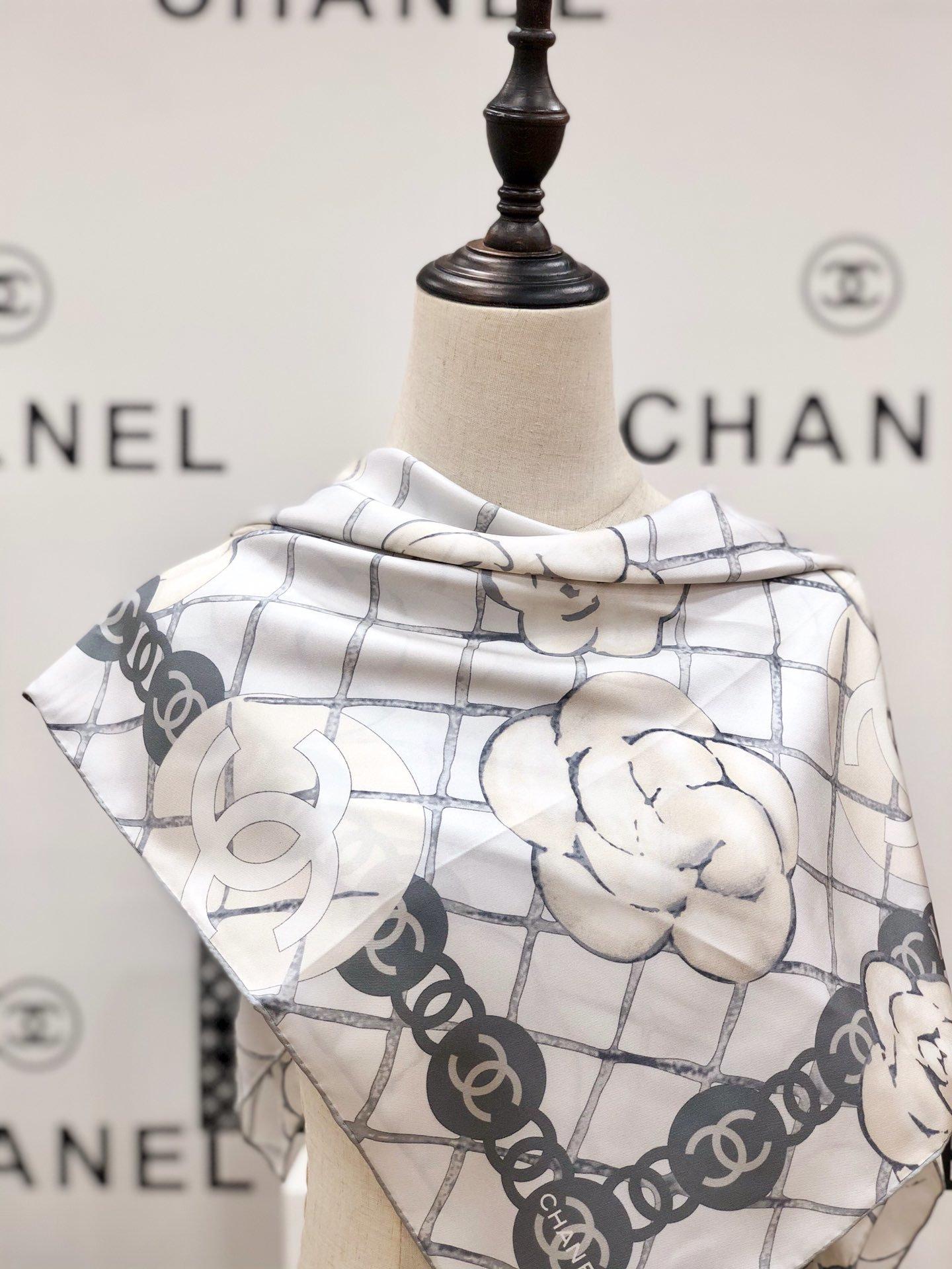 Chanel香奈儿山茶花方巾明星热门同款(图7)