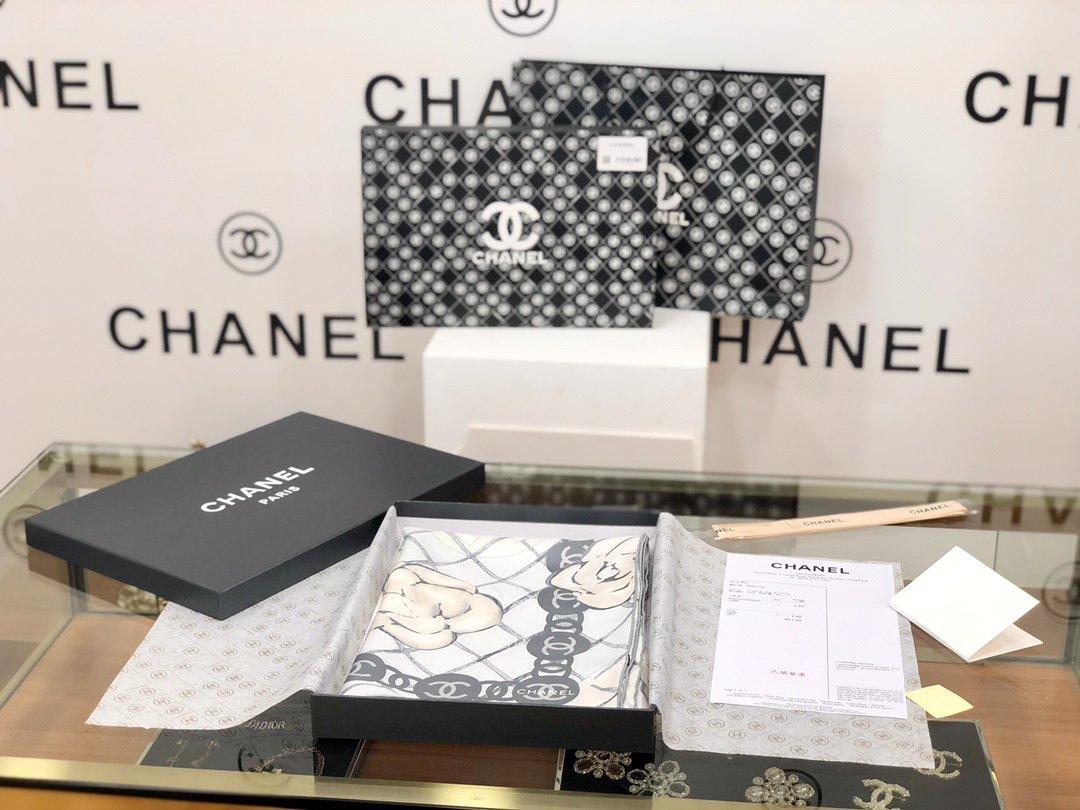 Chanel香奈儿山茶花方巾明星热门同款(图1)