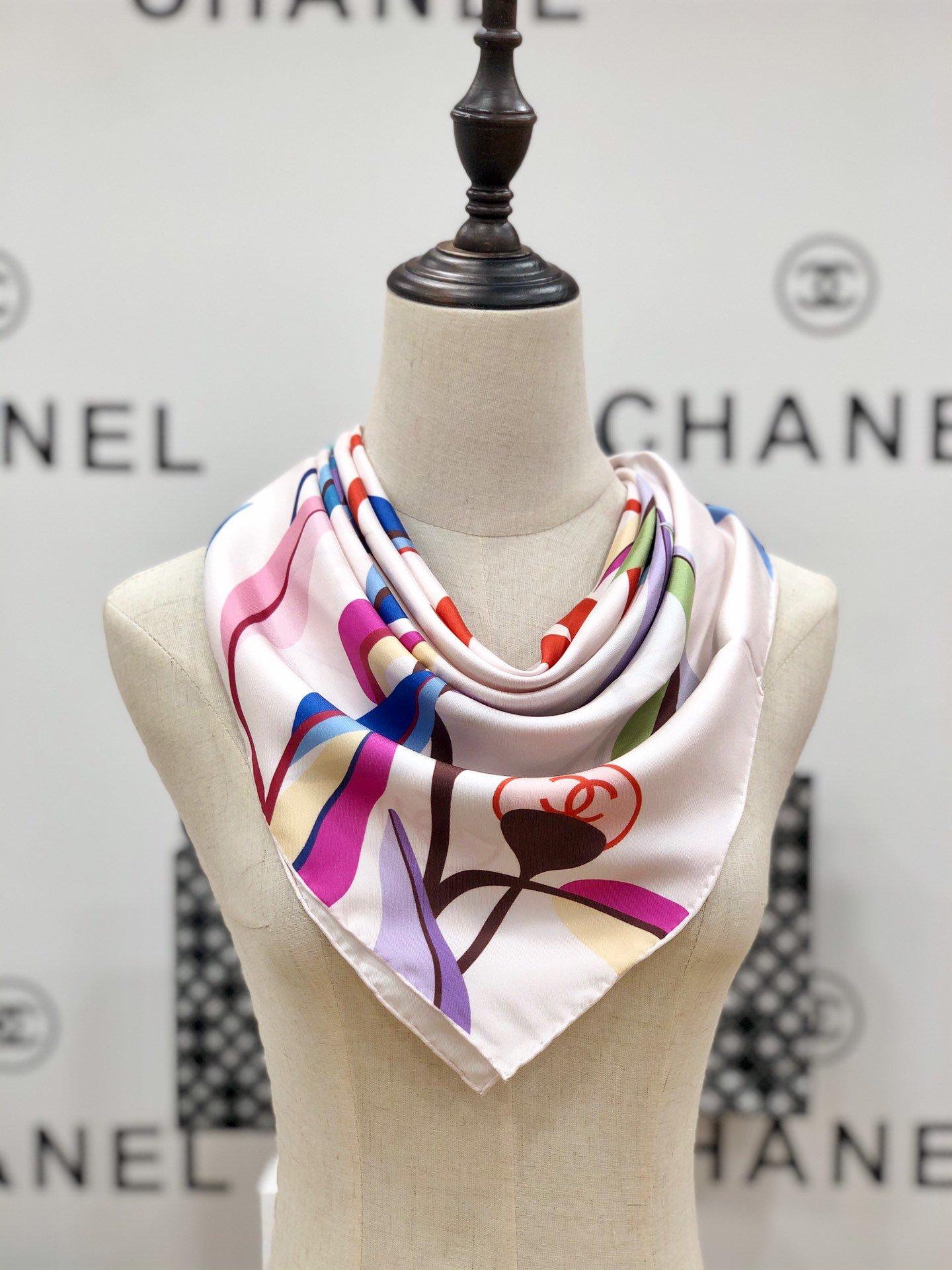 chanel小香顶级斜纹真丝方巾(图8)