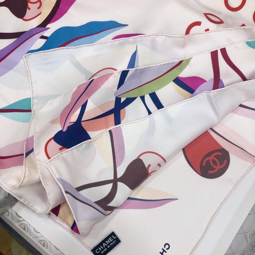 chanel小香顶级斜纹真丝方巾(图6)