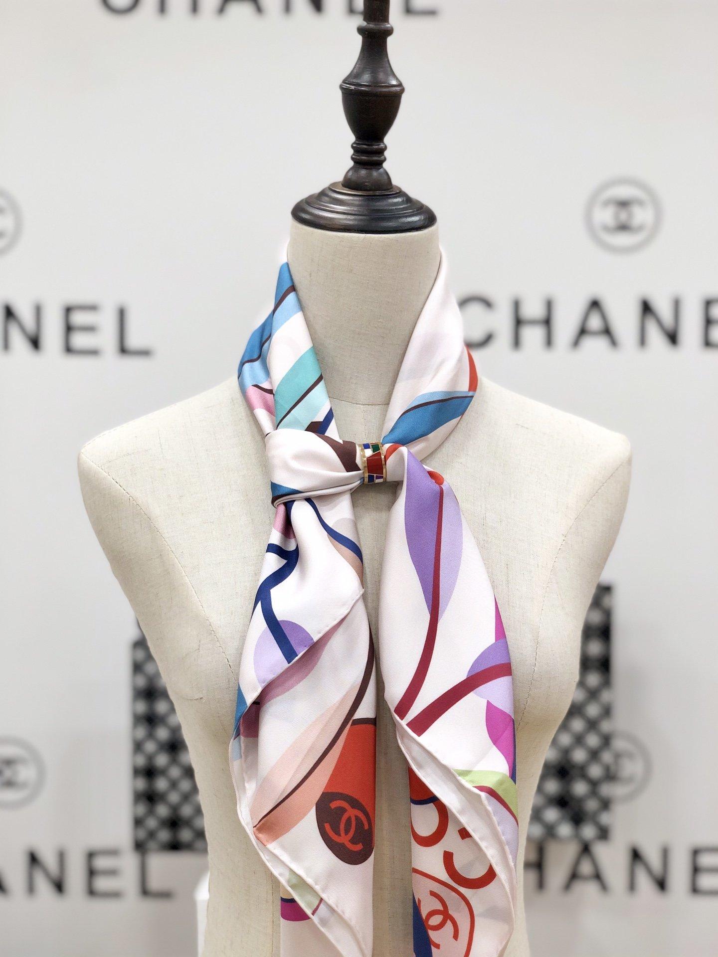 chanel小香顶级斜纹真丝方巾(图2)